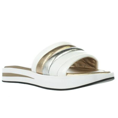 805816a22 Michael Kors - Womens MICHAEL Michael Kors Conrad Slide Sandals, Pale Gold/ White - Walmart.com