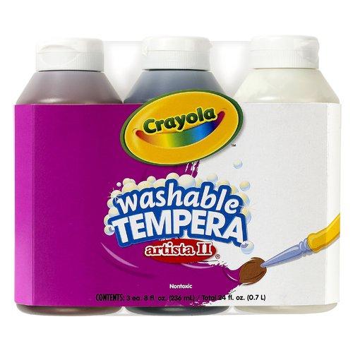 Crayola LLC Tempera Paint Washable 3ct 8oz