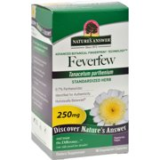 Nature's Answer Feverfew Herb - 90 Vegetarian Capsules