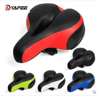 Bike Seat MTB Saddle Dual Spring Comfort Bicycle with Safety Reflective