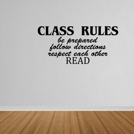 Wall Decal Quote Class Rules Vinyl Wall Art Decal Quote Classroom Teacher DP334 - Walmart.com