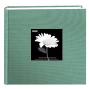 Pioneer 200 Pocket Photo Album - Tranquil Aqua Natural Colors Fabric