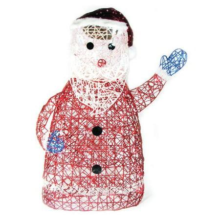 Brite Glitter (Brite Star Spun Glitter 100 Light Santa Silhouette Christmas)