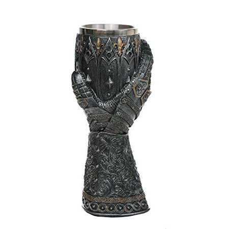 Medieval Knight Lions Heart Gauntlet Style Wine Goblet 9