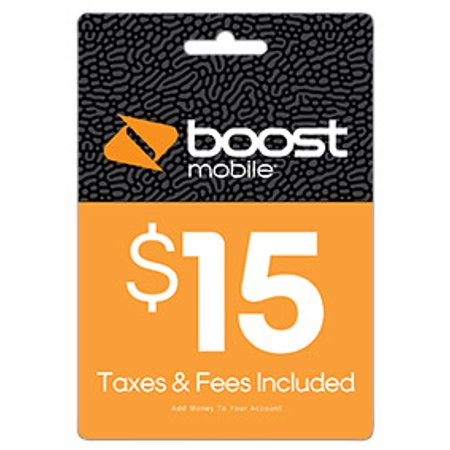 $15 Re-Boost Card (Email Delivery) Boost Mobile Unlimited