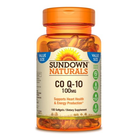 Sundown Naturals Co Q-10 Softgels, 100 Mg, 100 Ct