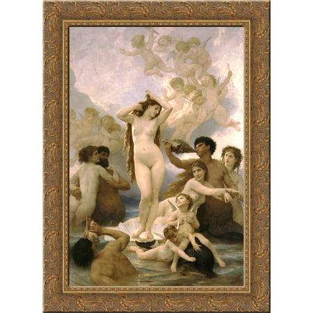 Birth of Venus 19x24 Gold Ornate Wood Framed Canvas Art by Bouguereau, William Adolphe