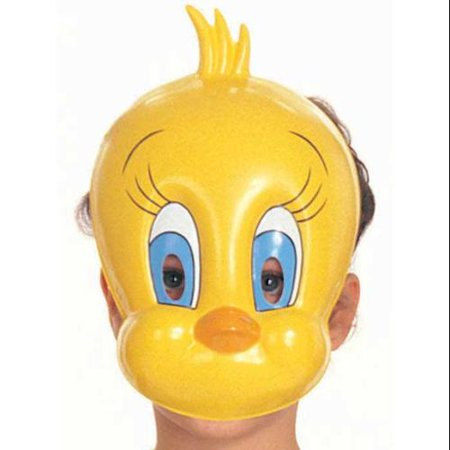 Tweety Bird Mask Plastic Looney Tunes Yellow PVC Child Costume Accessory