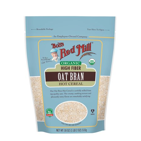 Bob's Red Mill Organic High Fiber Oat Bran Hot Cereal, 18-ounce (Oat Fiber)