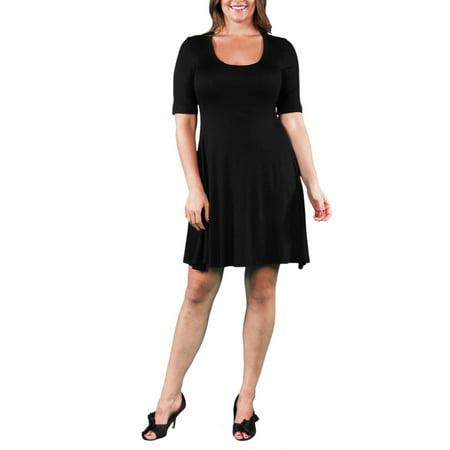 Women's Plus Elbow-Sleeve Dress](Belle Dress For Sale)