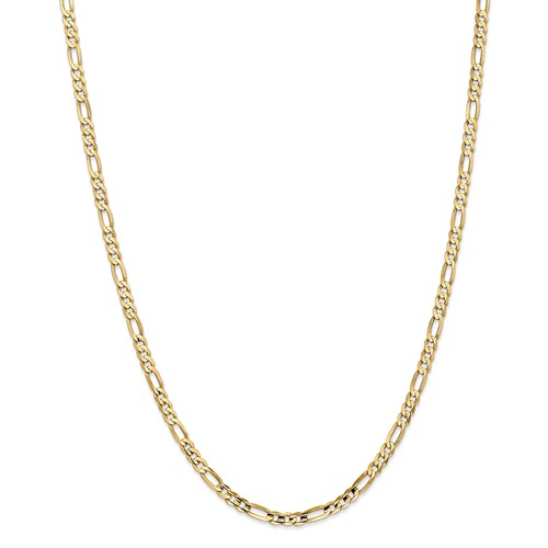 14k Yellow Gold 16in 4mm Concave Open Figaro Necklace Chain by Jewelrypot
