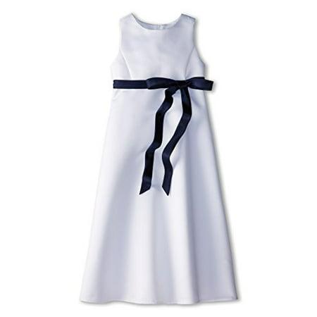 fc2017f36 Us Angels Girl's Satin A-Line Dress (Big Kids) Navy Dress 12 (Big Kids) -  Walmart.com