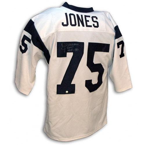 NFL - Deacon Jones Los Angeles Rams Autographed Throwback Jersey with HOF 88 Inscription