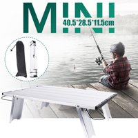 Folding Aluminum Camp Table Lightweight For Outdoor Camping Picnic Fishing