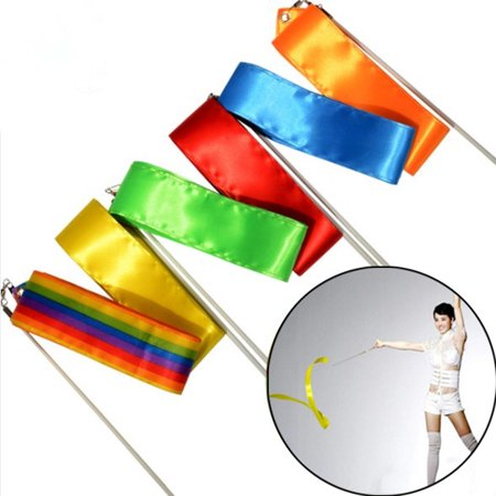 4M Dancing Ribbon ,Streamer Dance Gym Rhythmic Ribbons with Wand Art Artistic Gymnastics Ballet Twirling Rod Stick for Women Girls Kids Christmas Decoration Christmas decor Gift