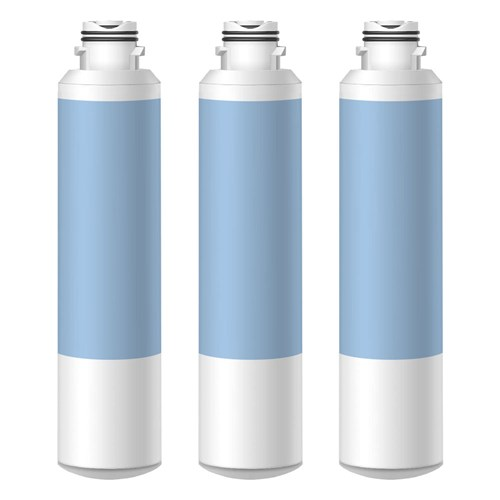 Replacement 3 Pack  Water Filter for Samsung RS261MDBP Refrigerators