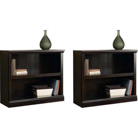 Sauder 2-Shelf Bookcase, Set of 2, (Mix and