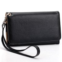 Black Cell Phone Wallet Wristlet