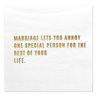 Andaz Press One Special Person, Funny Quotes Cocktail Napkins, Gold Foil, Bulk 50-ct