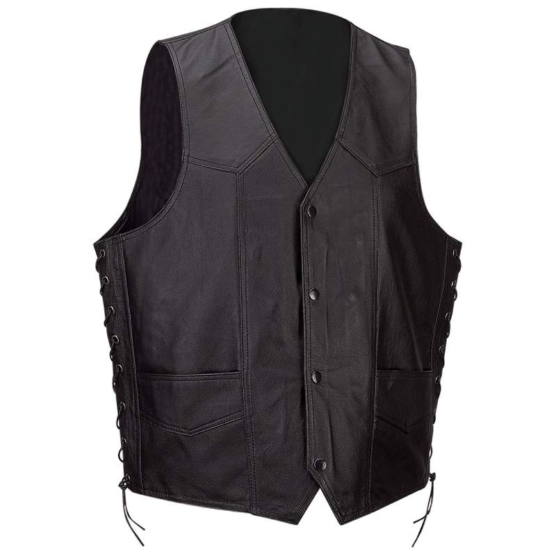 Diamond Plate™ Solid Genuine Leather Vest - 2x - GFVSL2X