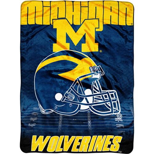 """NCAA Overtime 60"""" x 80"""" Blanket, Michigan"""