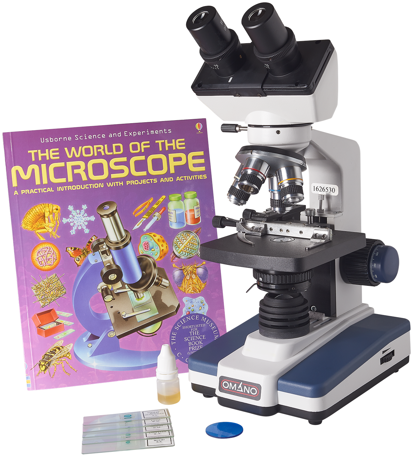 Omano OM118-B4L LED 40X-1000X Compound Student Microscope Gift Package
