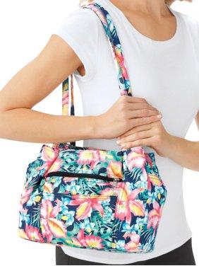 8906363cafd Product Image Women's Multi Pocket Denim Shoulder Bag with Double Straps,  Floral