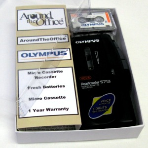 S-713 Olympus Microcassette Voice Recorder S713 Gift Boxe...