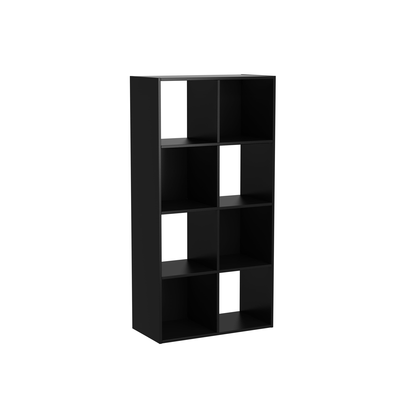 Black 8 Cube Organizer Bookshelf Wood Storage Shelving Office Living ...