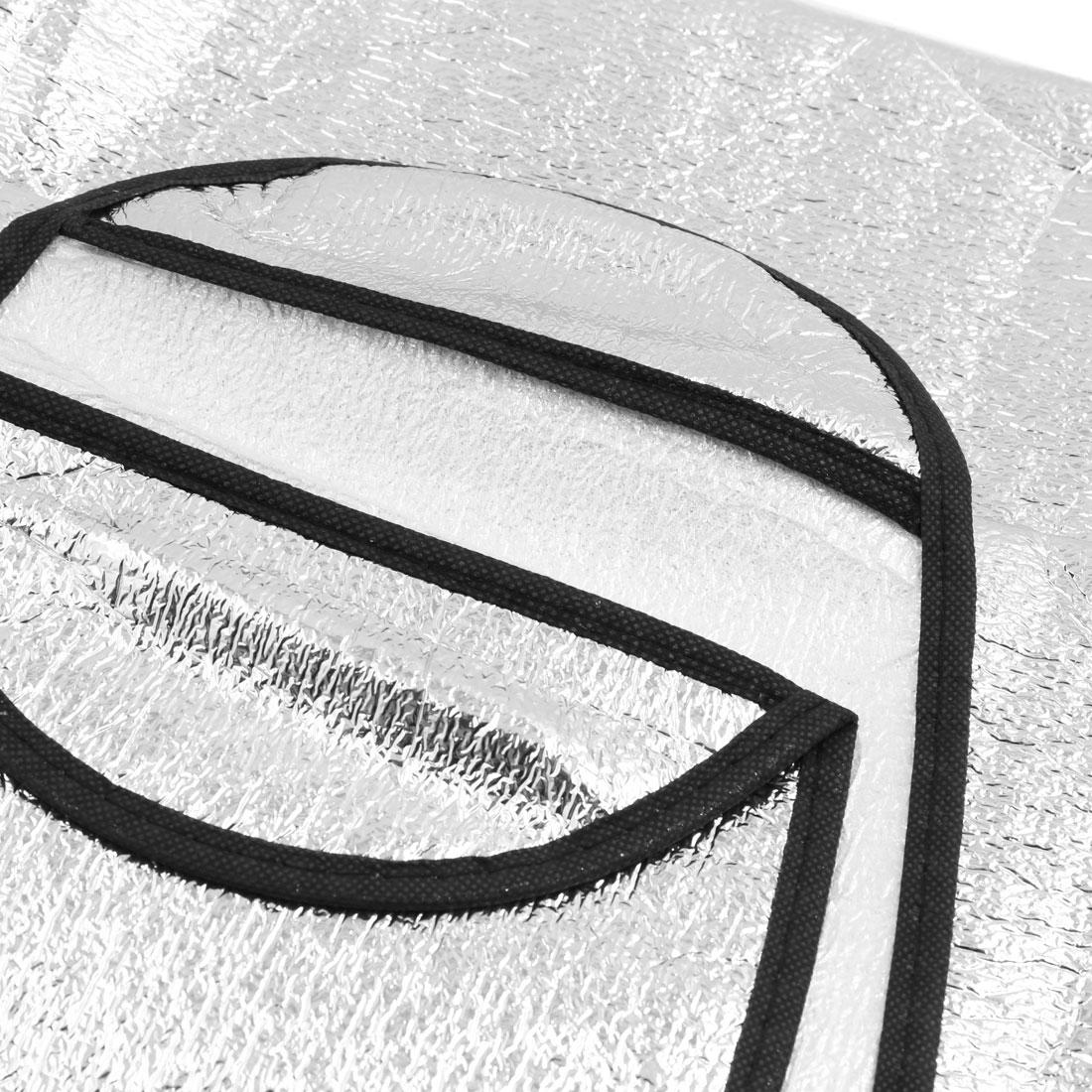 Sliver Tone Aluminum Foil Snow Heat Resistant Auto Car Windshield Sunshade - image 2 of 3