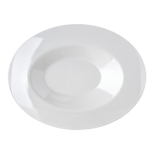 Carlisle Food Service Products Halcyon Oval Low Melamine Pasta Bowl (Set of 12) by