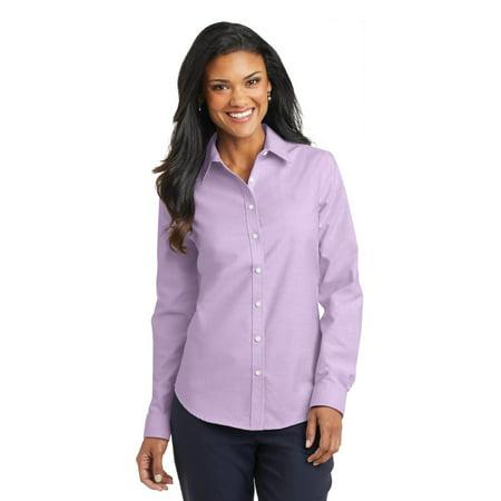 Port Authority® Ladies Superpro™ Oxford Shirt. L658 Soft Purple Xs - image 1 of 1
