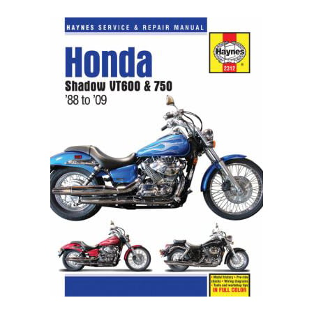 Haynes Honda Shadow VT600 & VT750 '88 to '09 Service and Repair Manual