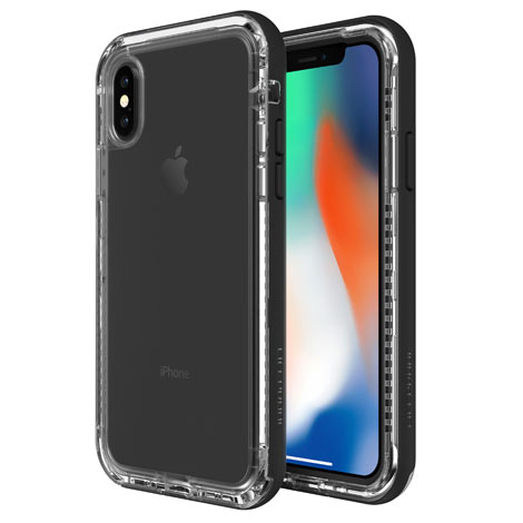 Lifeproof Next for iPhone X Case, Black Crystal