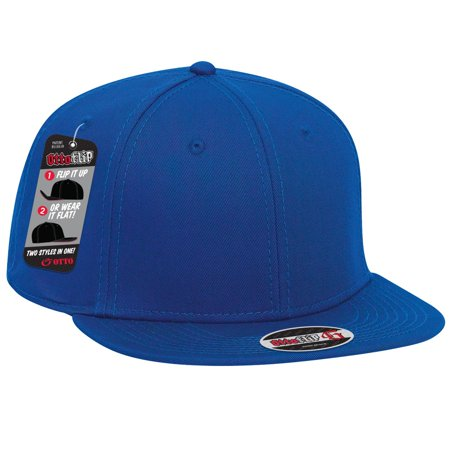 Wholesale 12 x OTTO FLIP Cotton Twill Flat To Full Flip Round Visor 6 Panel  Baseball Cap - Royal - (12 Pcs) - Walmart.com 5a410884cdc0