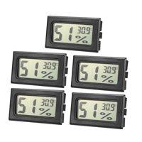 Black Digital Temperature Humidity Meters Gauge Indoor Thermometer Hygrometer LCD Display Celsius(°C) 5pcs