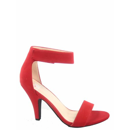Rosela-s Open Toe Ankle Strap High Heel Dress Sandals Shoes ()