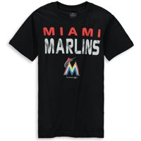 MLB Miami MARLINS TEE Short Sleeve Boys Team Name and LOGO 100% Cotton Team Color 4-18