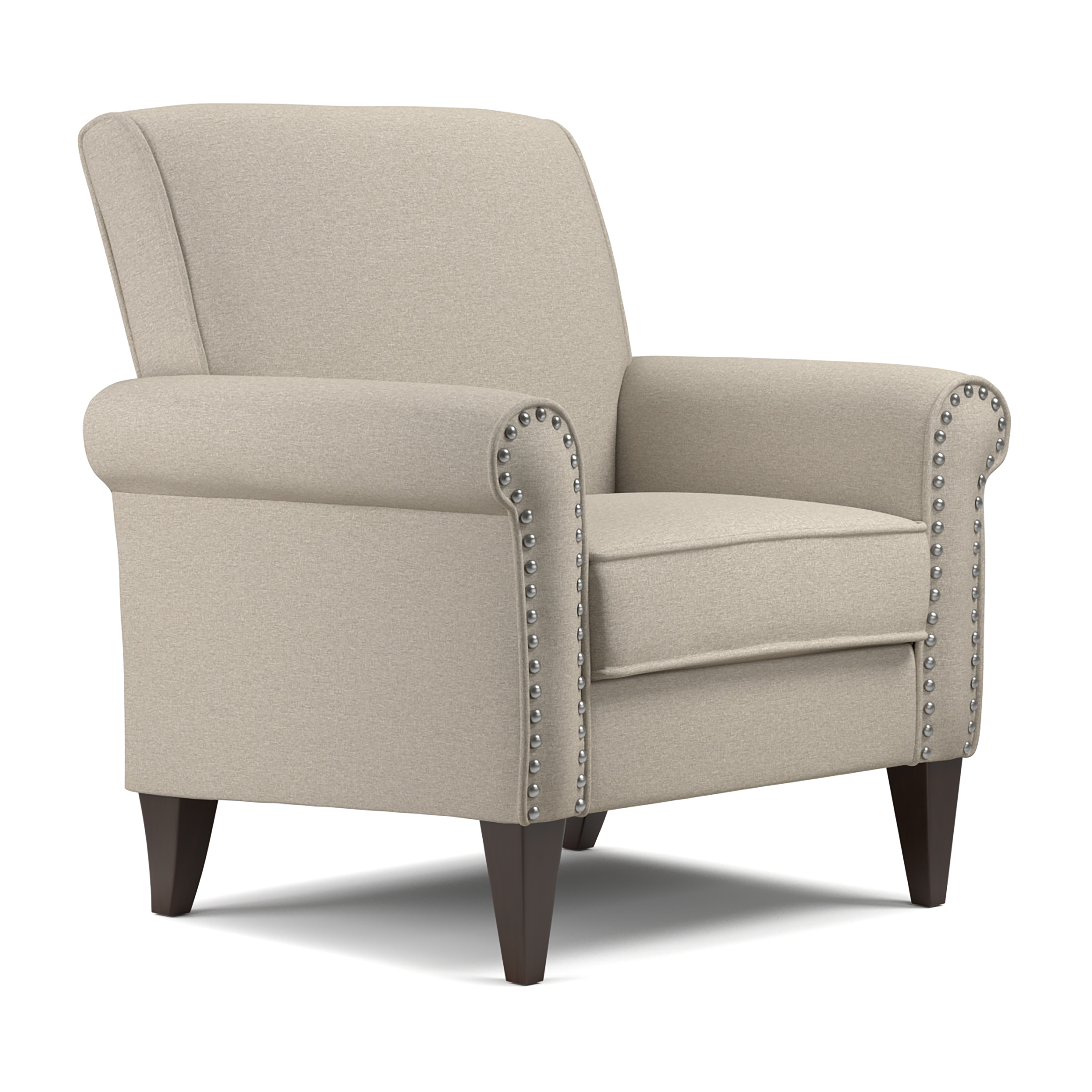 Jean Arm Chair in Linen, Multiple Colors