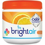 Bright Air Super Odor Eliminator Air Freshener - 14 Fl Oz [0.4 Quart] - Fresh Lemon, Mandarin Orange - 60 Day - 6 / Carton (900013ct)