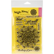 """Waffle Flower Crafts Clear Stamps, 4"""" x 6"""", Lacy Flower"""