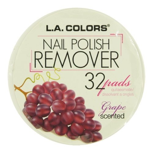 Nail Polish Remover Pads 963 Grape Scent, LA COLORS Polish Remover Pads - Grape Scent By L.A. Colors