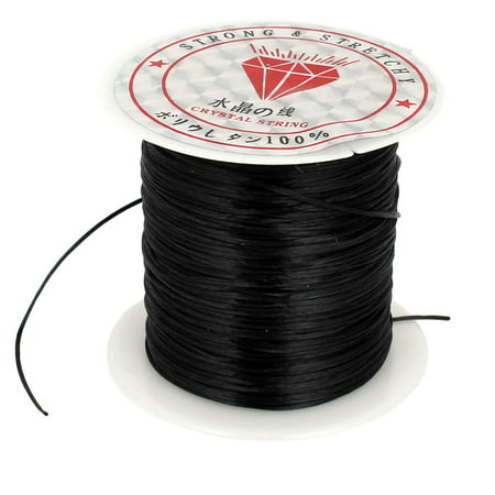 1mm Black Elastic Stretch Beading String Thread Cord Wire for Jewelry Making (Orvis Stretch Cord)
