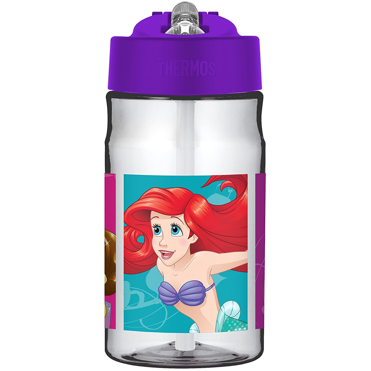 Thermos 12 oz. Tritan Flip-Straw Hydration Water Bottle with Carry Loop