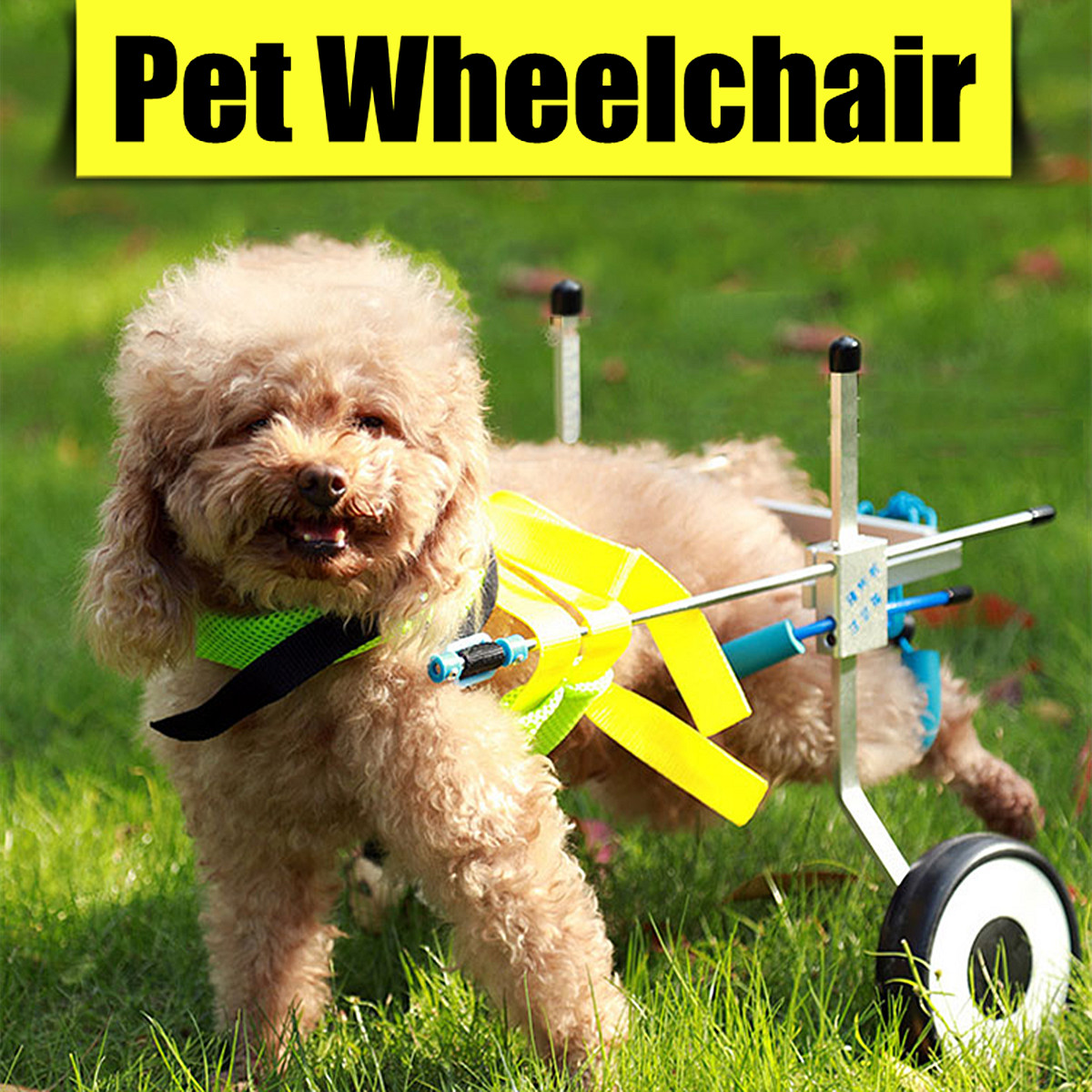 Pet Dog Cat  Wheelchair Adjustable To Make Handicapped large Dog Doggie Puppy Walk For 1-5KG /8-30KG