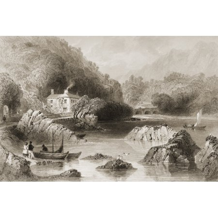 Glengariff Inn County Cork Ireland Drawn By WHBartlett Engraved By J C Bentley From The Scenery And Antiquities Of Ireland  By NPWillis And JStirling CoyneIllustrated From Drawings By WHBartlett Publi
