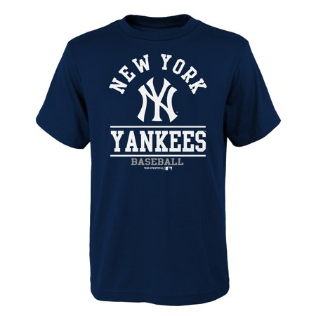 - Youth Navy New York Yankees Arch T-Shirt