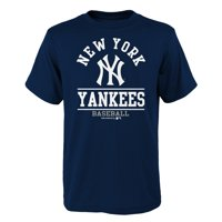 Youth Navy New York Yankees Arch T-Shirt