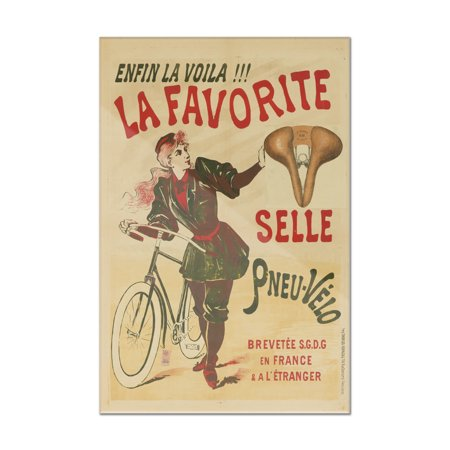 La Favorite Vintage Poster France c. 1898 (24x36 Acrylic Wall Art Gallery Quality)