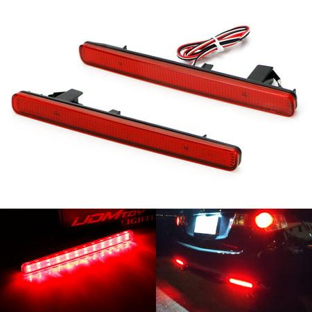 Euro Accord (iJDMTOY Complete 48-SMD Red Lens Full LED Bumper Reflectors Tail/Brake Light, Rear Fog Lighting Kit For 2009-2014 Acura TSX (Euro)